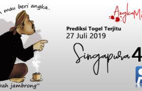 Prediksi Togel Singapura Mbah Jambrong 27 Juli 2019