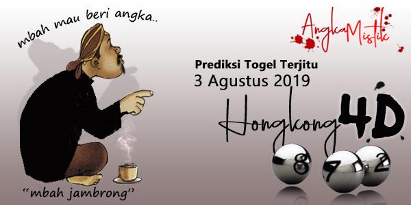 Prediksi Togel Hongkong Mbah Jambrong 3 Agustus 2019