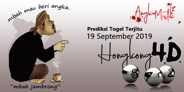 Prediksi Togel Hongkong Mbah Jambrong 19 September 2019