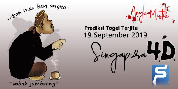 Prediksi Togel Singapura Mbah Jambrong 19 September 2019