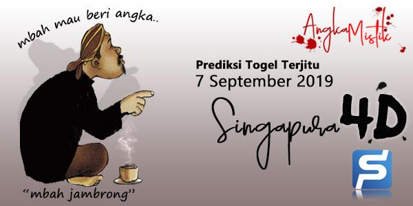 Prediksi Togel Singapura Mbah Jambrong 7 September 2019