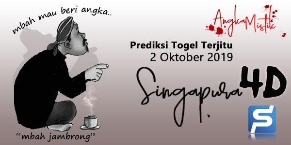Prediksi Togel Singapura Mbah Jambrong 2 Oktober 2019