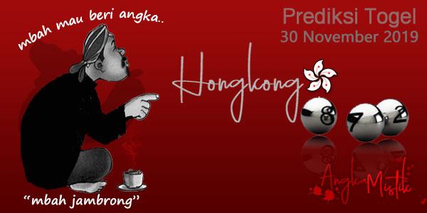 Prediksi Togel Hongkong Mbah Jambrong 30 Nov 2019