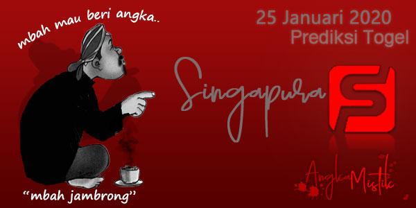 Prediksi Togel Singapura Mbah Jambrong 25 Januari 2020