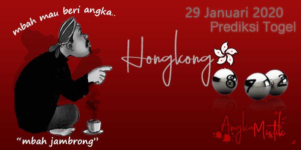Prediksi Togel Hongkong Mbah Jambrong 29 Januari 2020