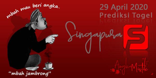 Prediksi Togel Singapura Mbah Jambrong 29 April 2020