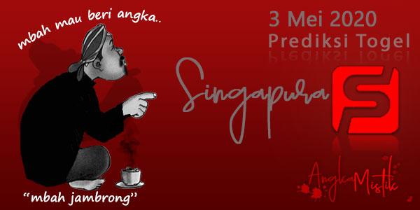 Prediksi Togel Singapura Mbah Jambrong 3 Mei 2020