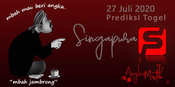 Prediksi Togel Singapura Mbah Jambrong 27 Juli 2020