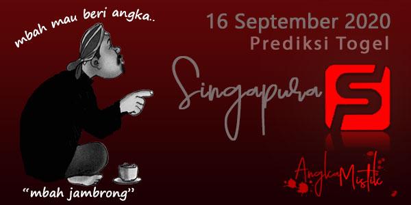 Prediksi Togel Singapura Mbah Jambrong 16 Sep 2020
