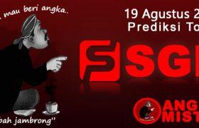 Prediksi Togel SGP Mbah Jambrong 19 Agustus 2021